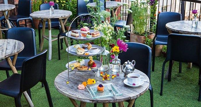 Harvey Nichols rooftop afternoon tea
