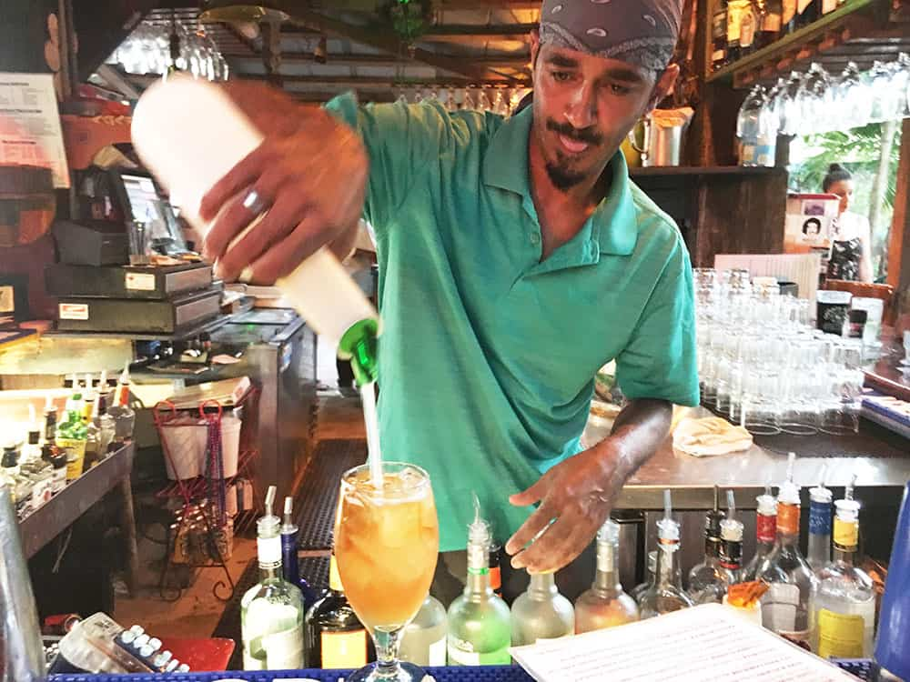 Cocktail at Blue Heaven Key West
