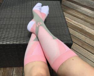 Compression socks for flying