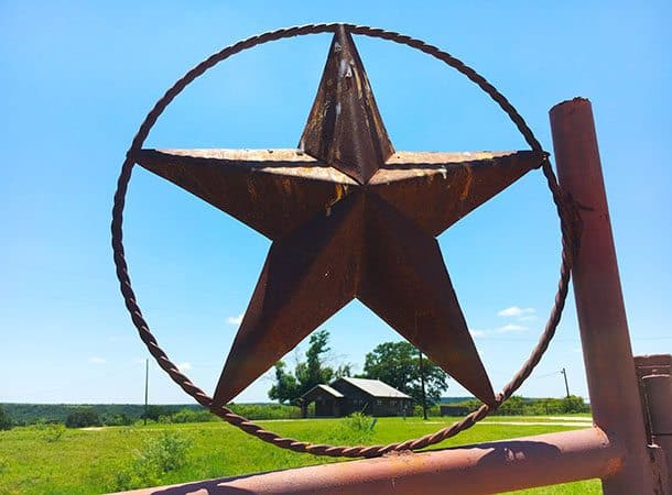 Lone star in iron