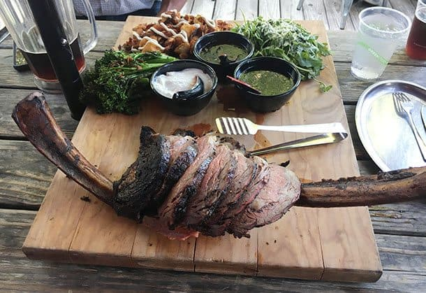 Huge Texas steak