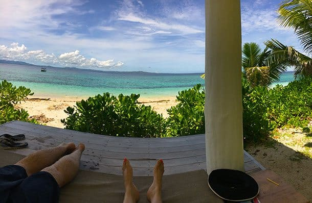 In the cabana malamala island