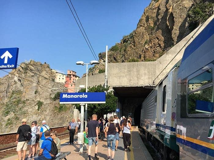 Manarola train station in Cinque Terre