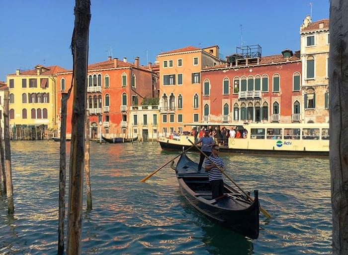 Gondola on Grand Canal Venice