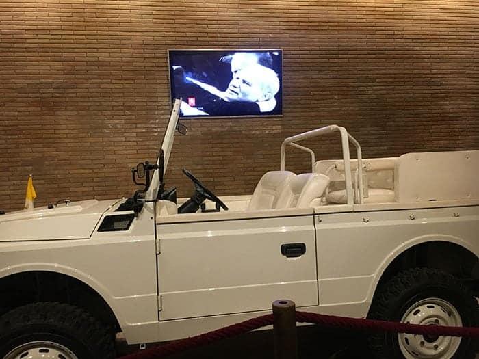 Popemobile that John Paul was shot in. Vatican Museums Rome