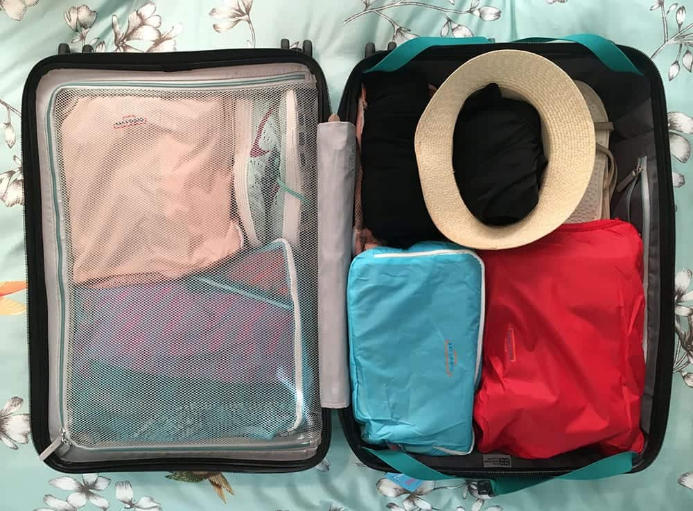 packing cells in suitcase