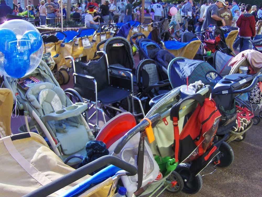 Strollers at Disneyland