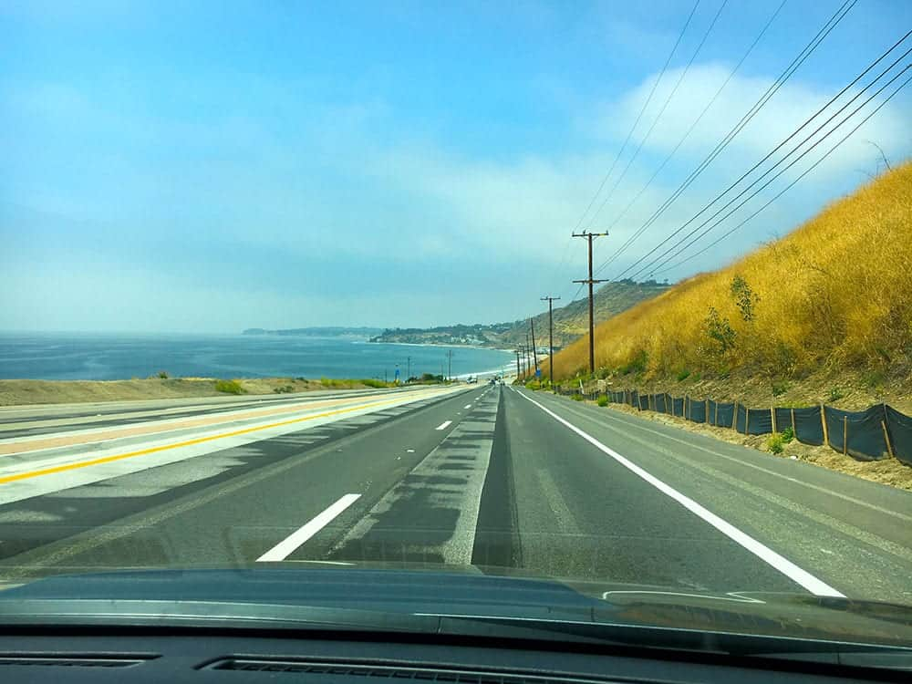 Driving up the Pacific Coast Highway from Los Angeles