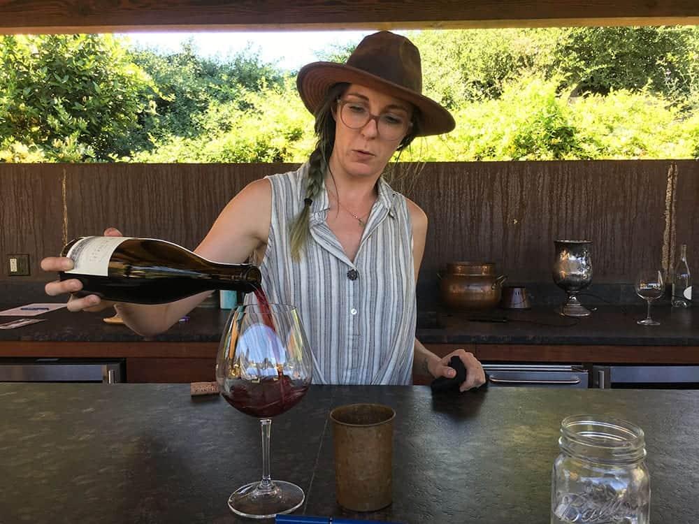 Tasting at Santa Barbara winery Pence
