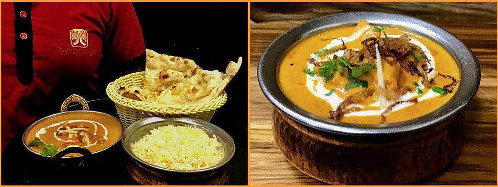 Indian food from Namaskar