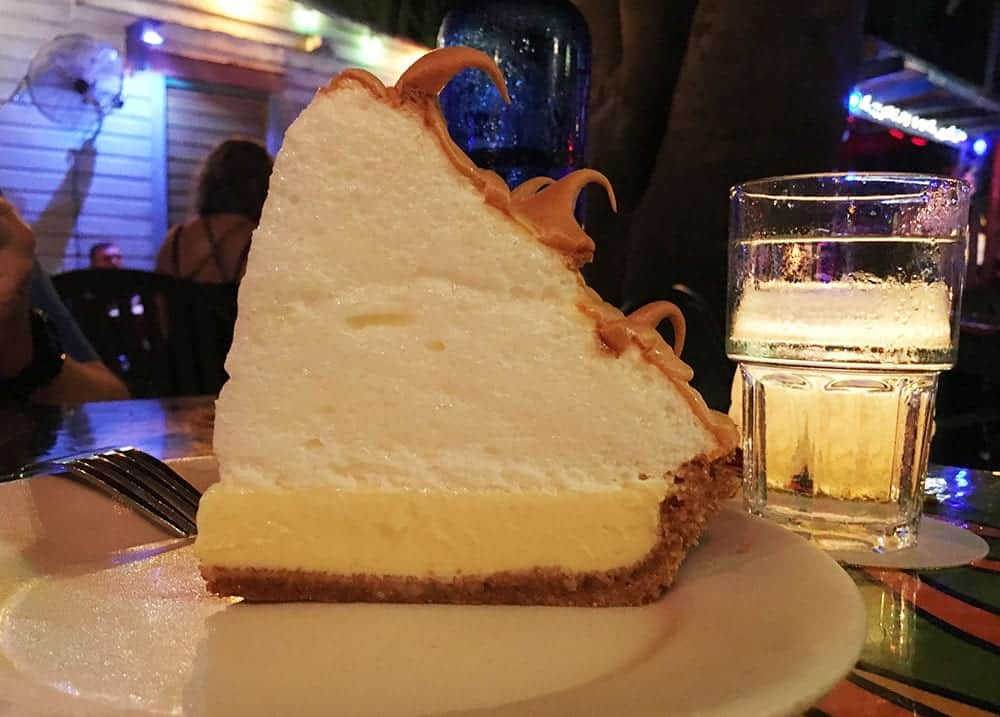 Key lime pie at Blue Heaven Key West
