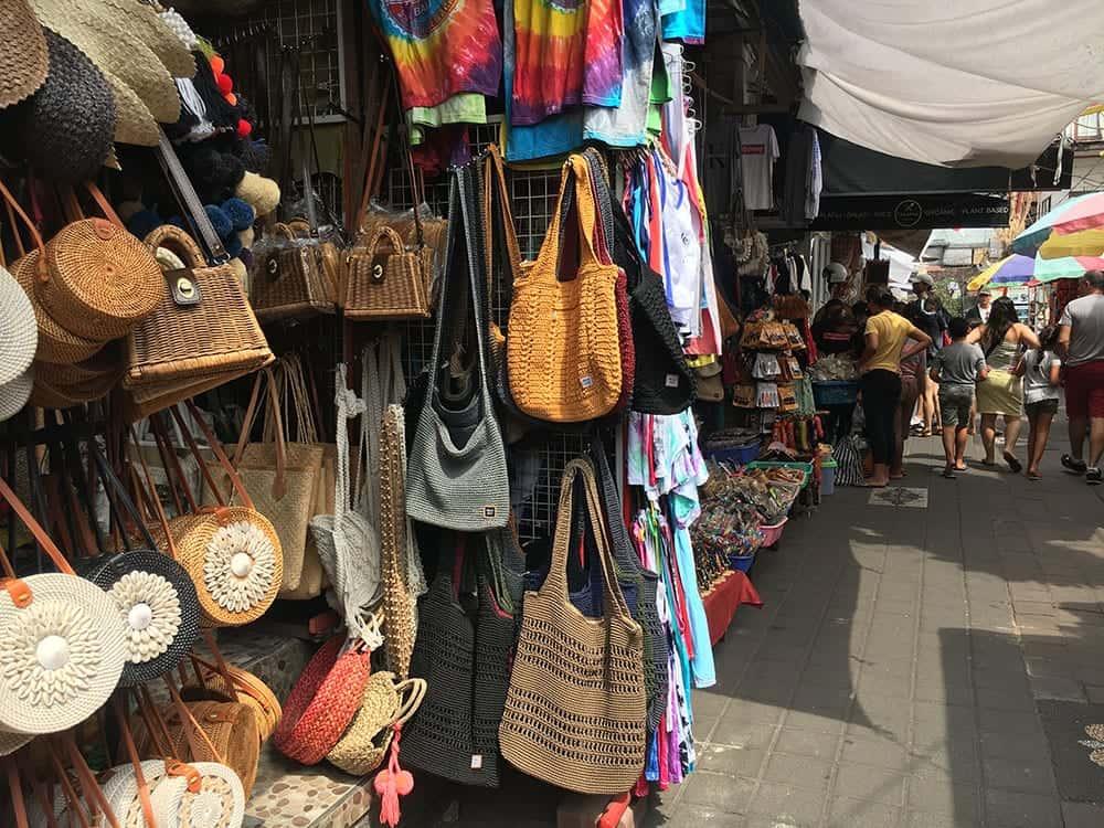 Bags at Ubud market Bali