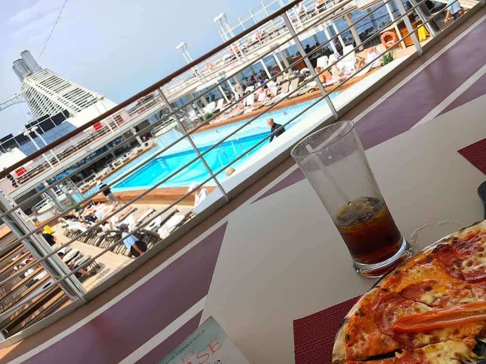 Pizza on a cruise