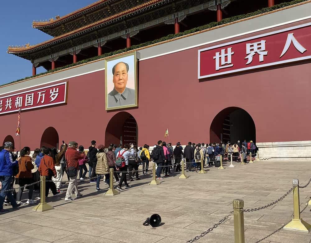 Entering Forbidden city Beijing