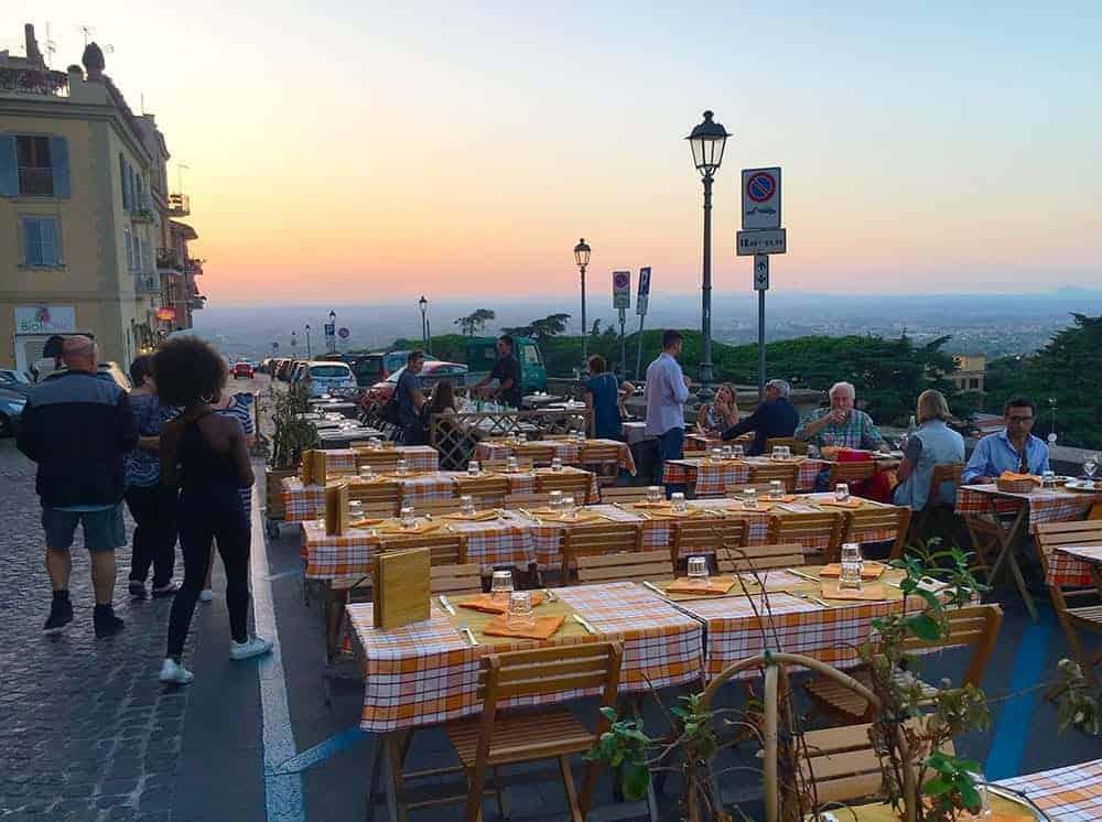 Dinner in Frascati, Rome