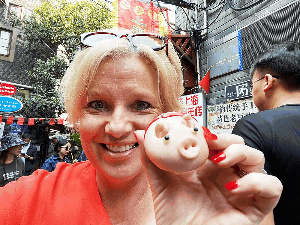 Pig shaped steam bun China