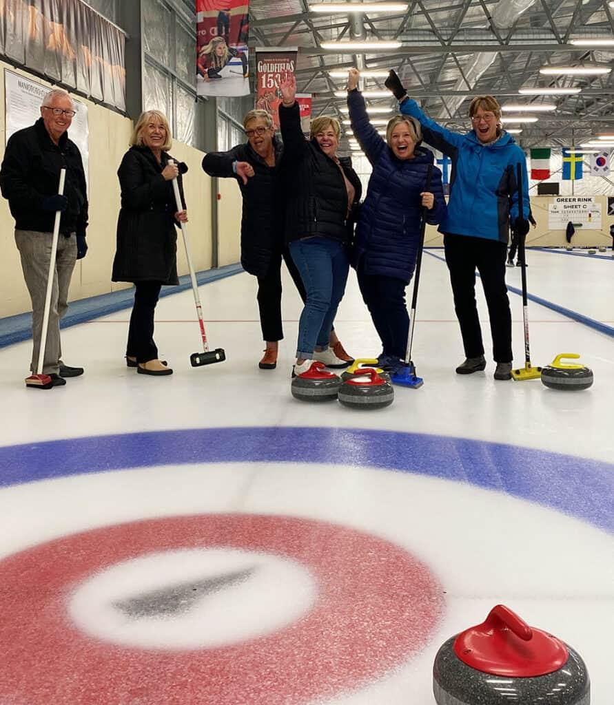 The winning curling team