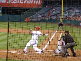 Albert Pujoles batting