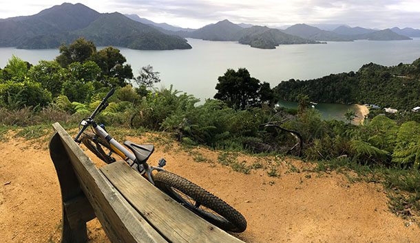 Marlborough Sounds view from bike track