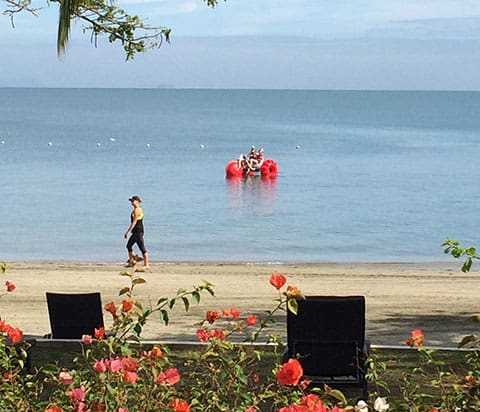 Sofitel Fiji floating bike