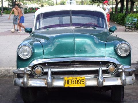 Cuba car and soccer