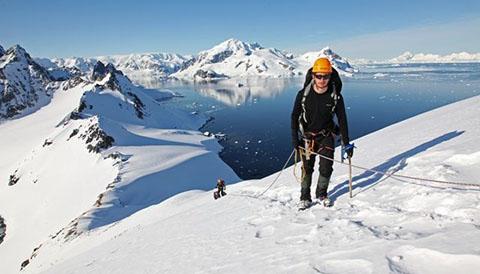 Climbing in Antarctica