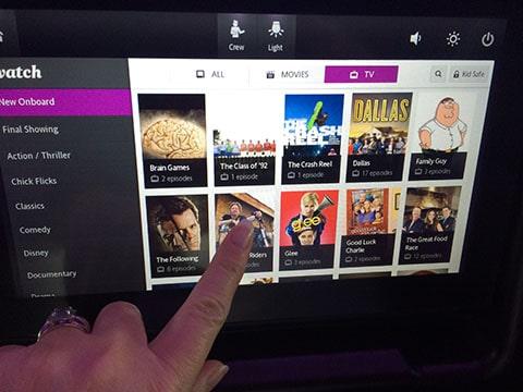 Dreamliner touch screen