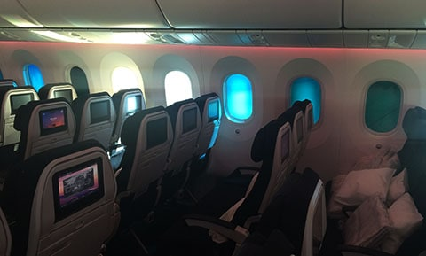Dreamliner window shades