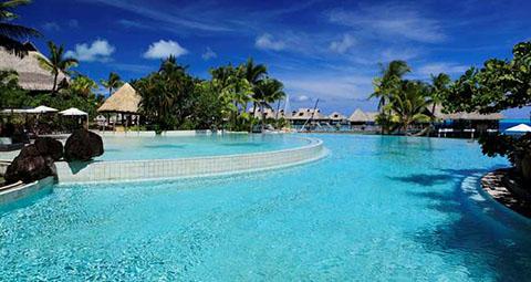 Hilton Bora Bora pool