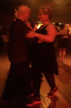 Tango at the milonga