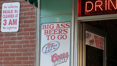 Beale Street big ass beers