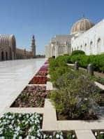 Dazzling marble courtyard
