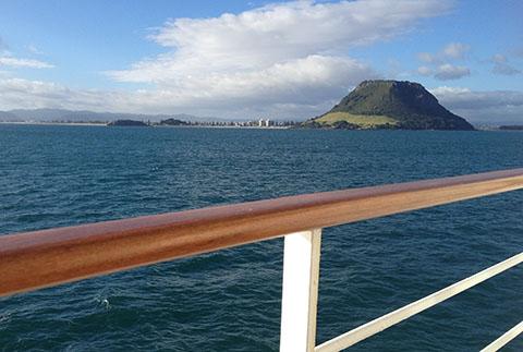 Mt Maunganui from balcony