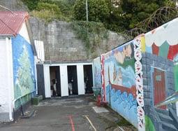 Napier prison courtyard