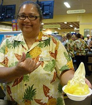 Dole Pineapple ice cream