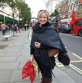 Megan shopping in London