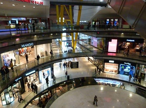 Bull fighting shopping arena Barcelona