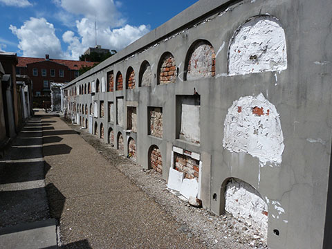St Louis cemetery oven wall