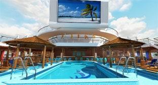 Carnival Sunshine beach pool