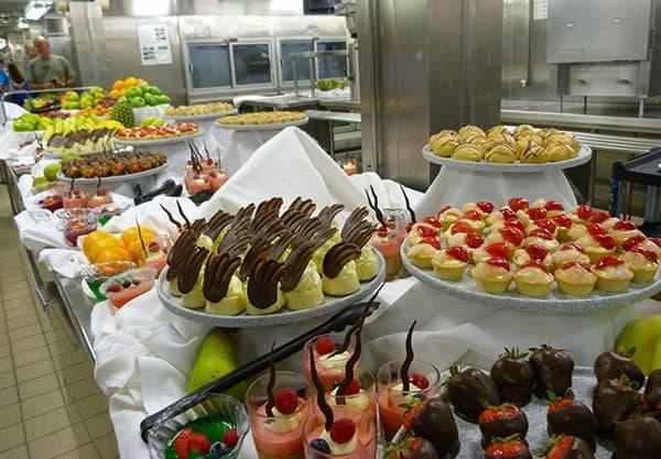 Cruise dessert buffet