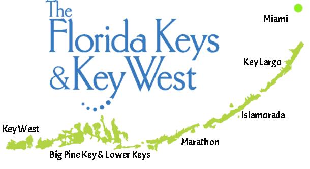 Miami to Florida Keys map