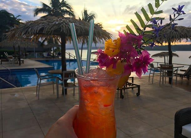 Iririki cocktail at sunset