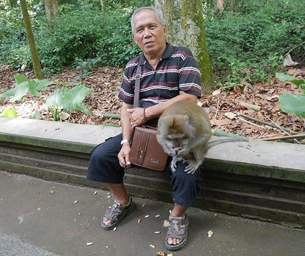 man with monkey ubud
