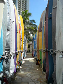 Surfboard storage