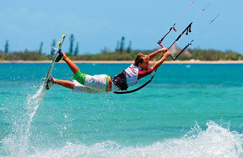windsurfing in New Caledonia